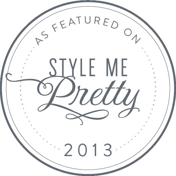 Publié sur Style Me Pretty